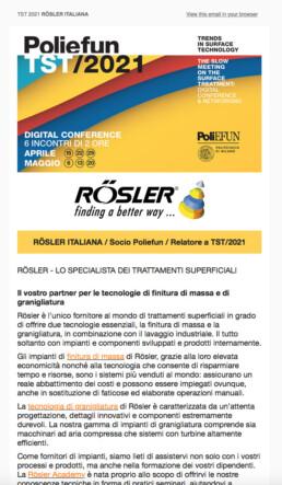 TST/2021 Rosler Italiana